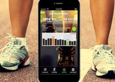 Mobiilisovellus – Juoksukoulu Android -alusta